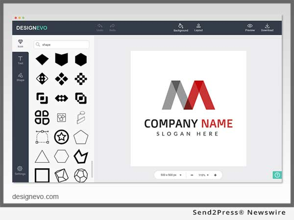 New DesignEvo SaaS Enables Everyone To Make Professional Brand Logos For Free