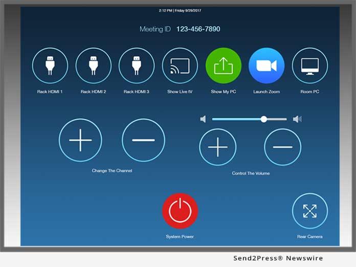 Utelogy zoom room interface