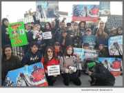 Animal Lovers protest, CBS Television City