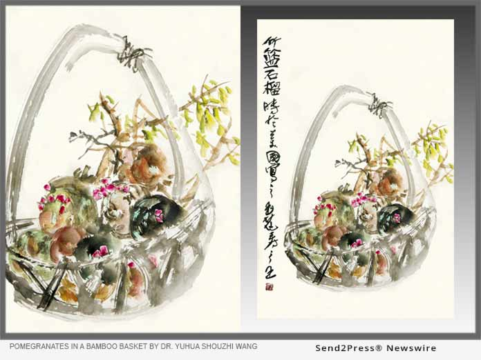 Pomegranates in a Bamboo Basket by Dr. Wang