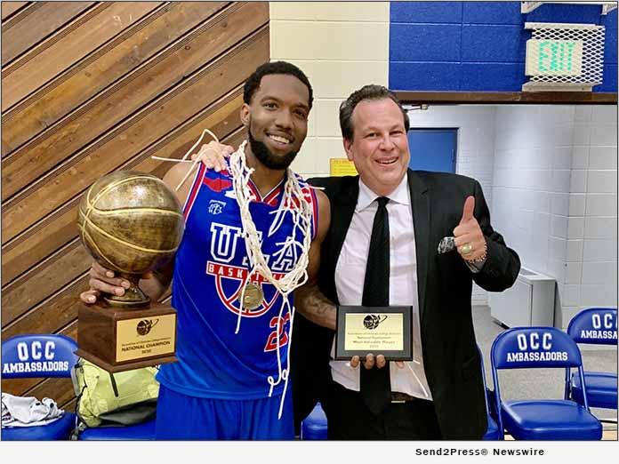 Tournament MVP Jerron Wilbut with Coach Michael Miller