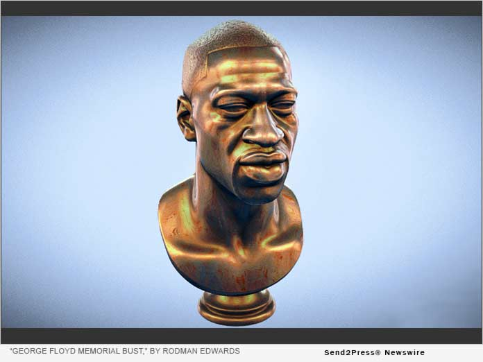 George Floyd Memorial Bust - by Rodman Edwards