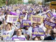 We Care LA campaign march