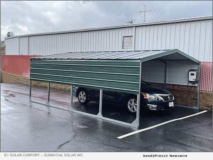 EV Solar Charging Carport