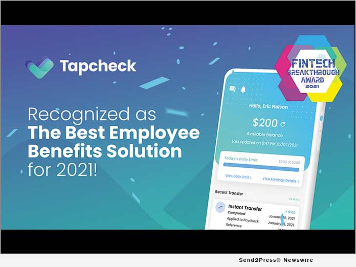Tapcheck Wins 'Best Employee Benefits Solution' in 2021 ...