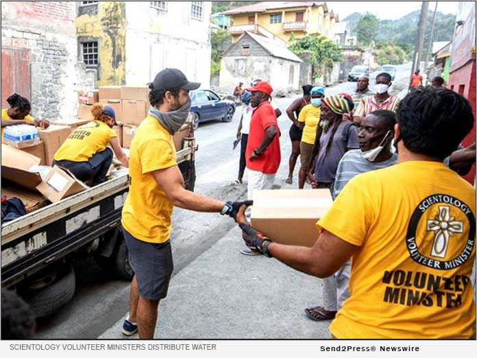 Scientology Volunteer Ministers distribute urgently needed supplies