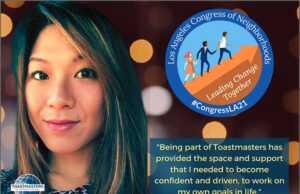 Toastmaster Judy Thang