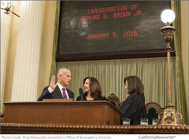 Governor Brown Sworn In