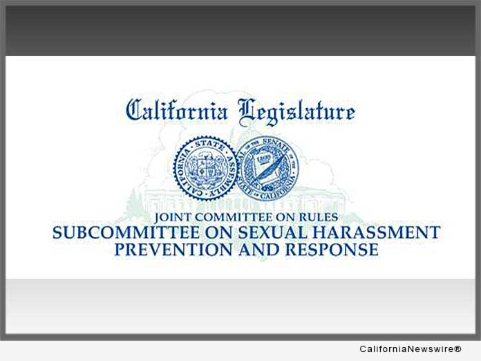 Calif. Subcommittee on Sexual Harassment