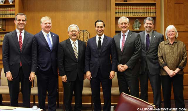 West Coast Mayors with Castro