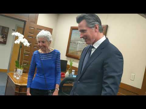 Sidney Meets Calif Gov Gavin Newsom 7 29 19